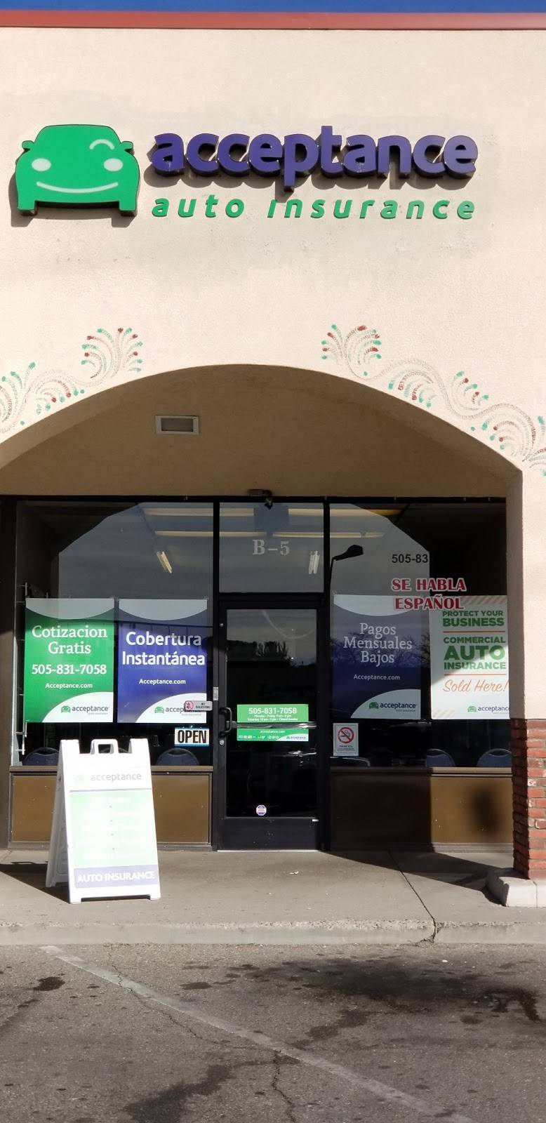 Acceptance Insurance - insurance agency  | Photo 1 of 3 | Address: 4201 Central Ave NW Ste B-5, Albuquerque, NM 87105, USA | Phone: (505) 831-7058