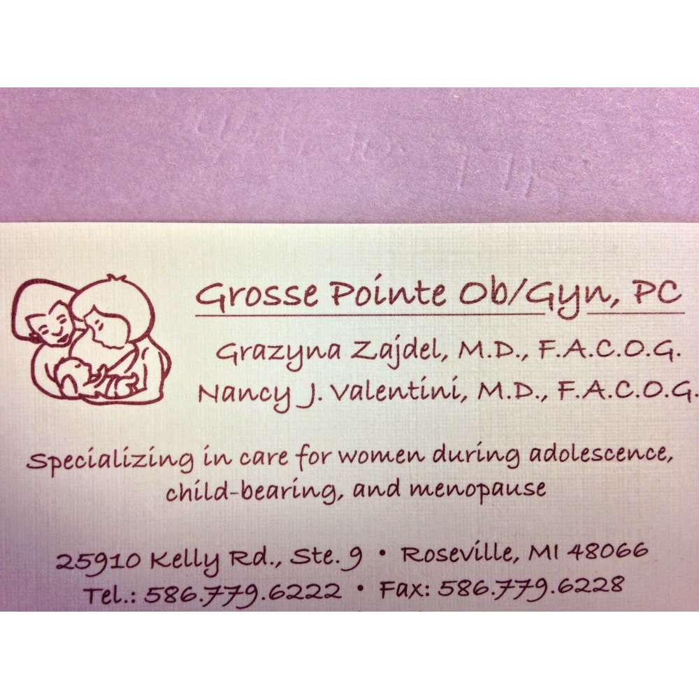 Grosse Pointe Ob/Gyn: Nancy Valentini MD - doctor    Photo 1 of 1   Address: 25910 Kelly Rd #9, Roseville, MI 48066, USA   Phone: (586) 779-6222