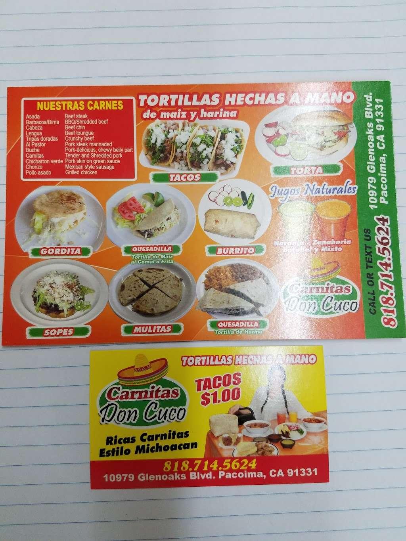 Carnitas Don Cuco - restaurant  | Photo 9 of 10 | Address: 10981 Glenoaks Blvd, Pacoima, CA 91331, USA | Phone: (747) 225-0825