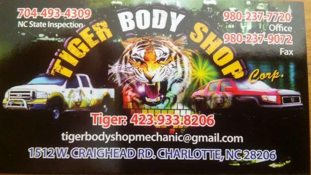 Tiger Body Shop - car repair  | Photo 7 of 10 | Address: 1512 W Craighead Rd, Charlotte, NC 28206, USA | Phone: (423) 933-8206