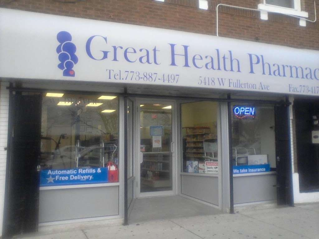 Great Health Pharmacy Inc., - pharmacy  | Photo 3 of 4 | Address: 6422 W Belmont Ave Suite 101, Chicago, IL 60634, USA | Phone: (773) 887-4497
