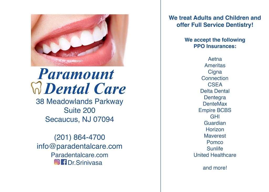 Paramount Dental Care - dentist  | Photo 8 of 10 | Address: 38 Meadowlands Pkwy #200, Secaucus, NJ 07094, USA | Phone: (201) 864-4700