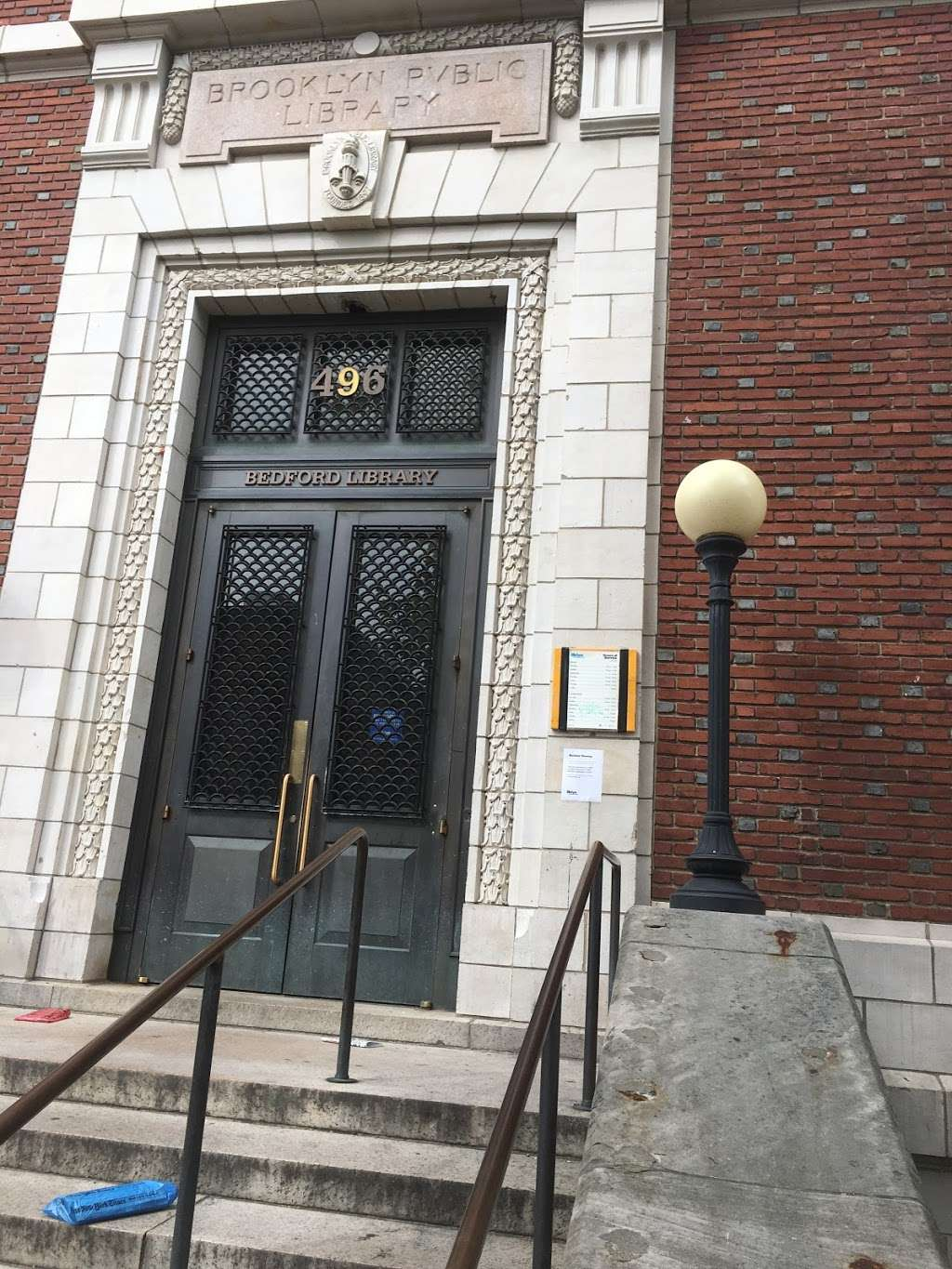 Bedford Branch Library - library  | Photo 2 of 4 | Address: 496 Franklin Ave, Brooklyn, NY 11238, USA | Phone: (718) 623-0012