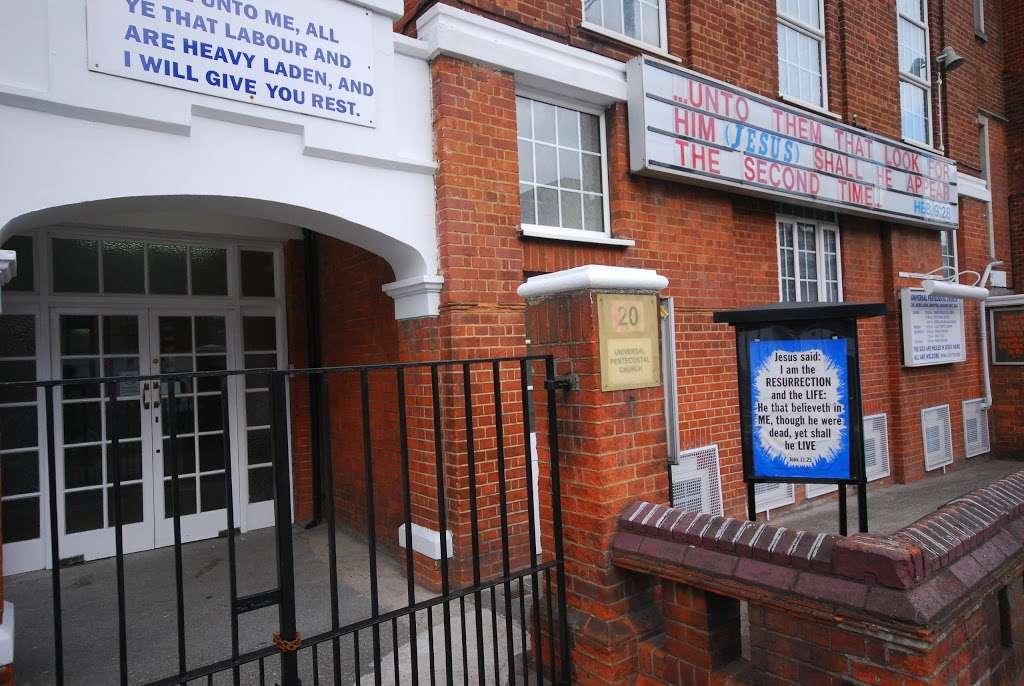 Universal Pentecostal Church - church    Photo 1 of 10   Address: 20 Acre Ln, Brixton, London SW2 5SG, UK   Phone: 020 7738 5566