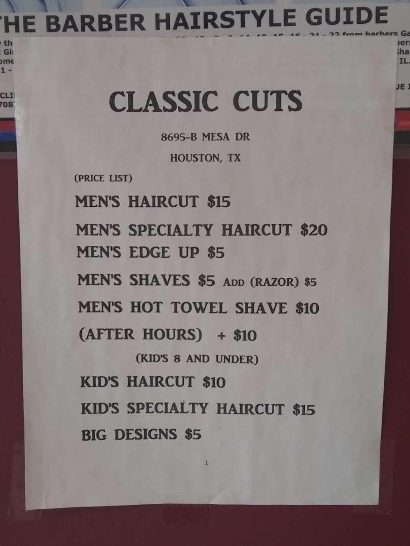 Classic Cuts 8695 B Mesa Dr Houston Tx 77028 Usa
