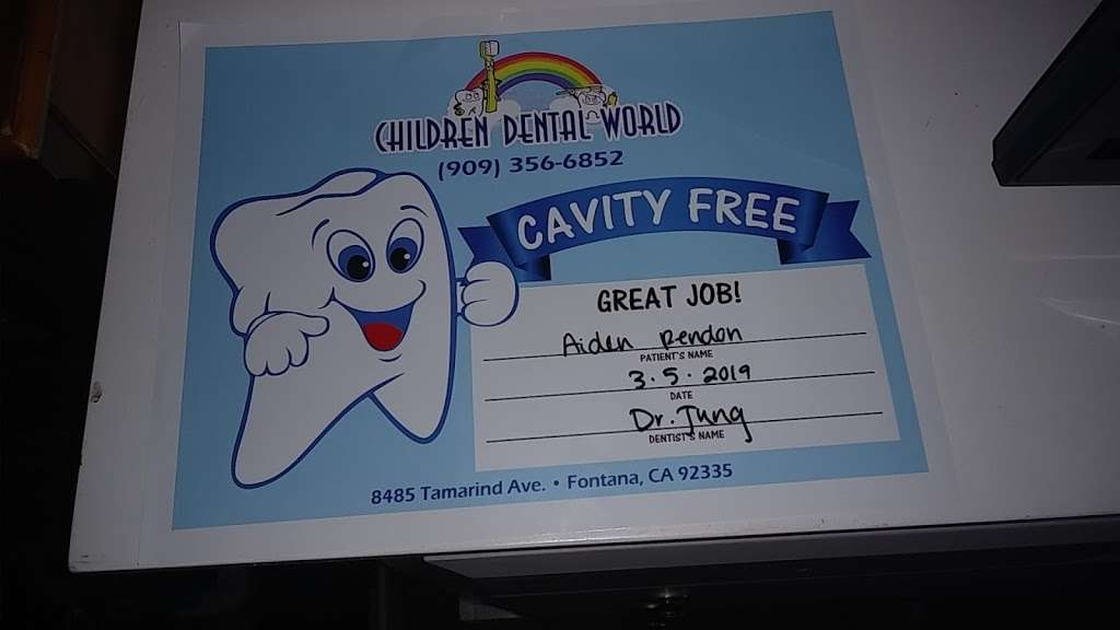 Children Dental World - dentist  | Photo 2 of 3 | Address: 8485 Tamarind Ave, Fontana, CA 92335, USA | Phone: (909) 356-6852