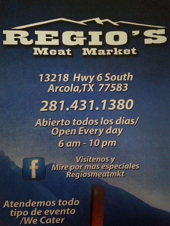 Regios Meat Market - store  | Photo 4 of 4 | Address: 13218 Hwy 6, Rosharon, TX 77583, USA | Phone: (281) 431-1380