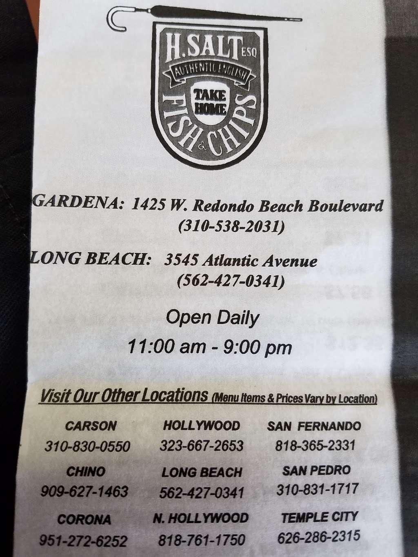 H Salt Fish & Chips - restaurant    Photo 9 of 10   Address: 1425 W Redondo Beach Blvd, Gardena, CA 90247, USA   Phone: (310) 538-2031