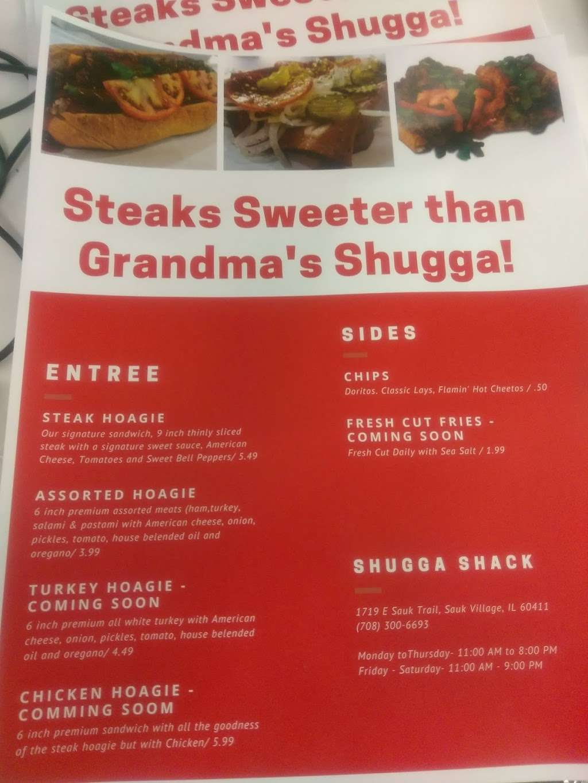 Shugga Shack - restaurant    Photo 6 of 9   Address: 1719 Sauk Trail, Sauk Village, IL 60411, USA   Phone: (708) 300-6693
