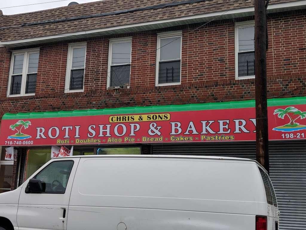 Chris & Sons Roti Shop and Bakery - restaurant    Photo 4 of 10   Address: 198-21 Hollis Ave, Jamaica, NY 11412, USA   Phone: (718) 740-0600