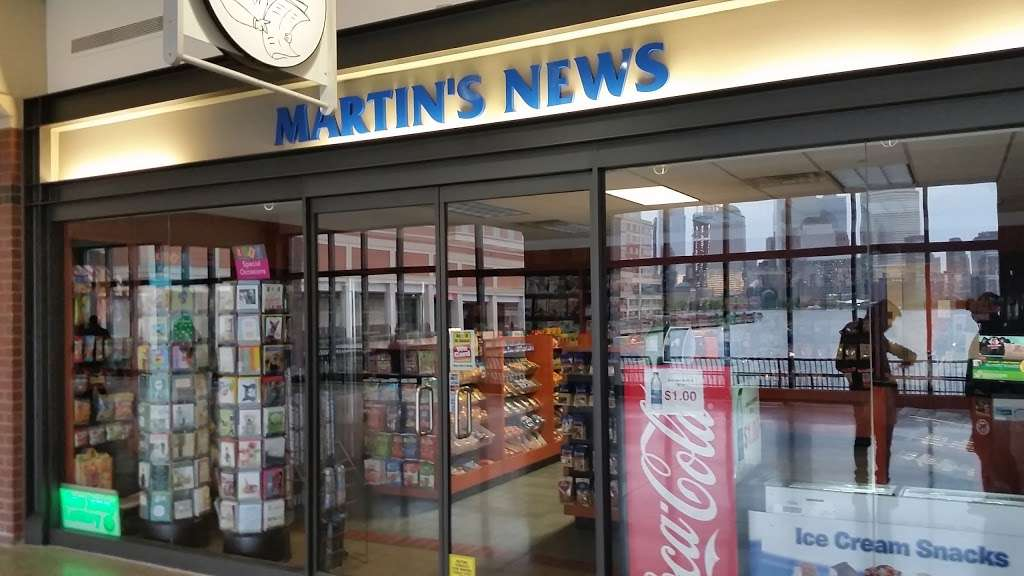 Martins News Shops - store  | Photo 1 of 2 | Address: 34 Exchange Pl, Jersey City, NJ 07302, USA | Phone: (201) 432-8449