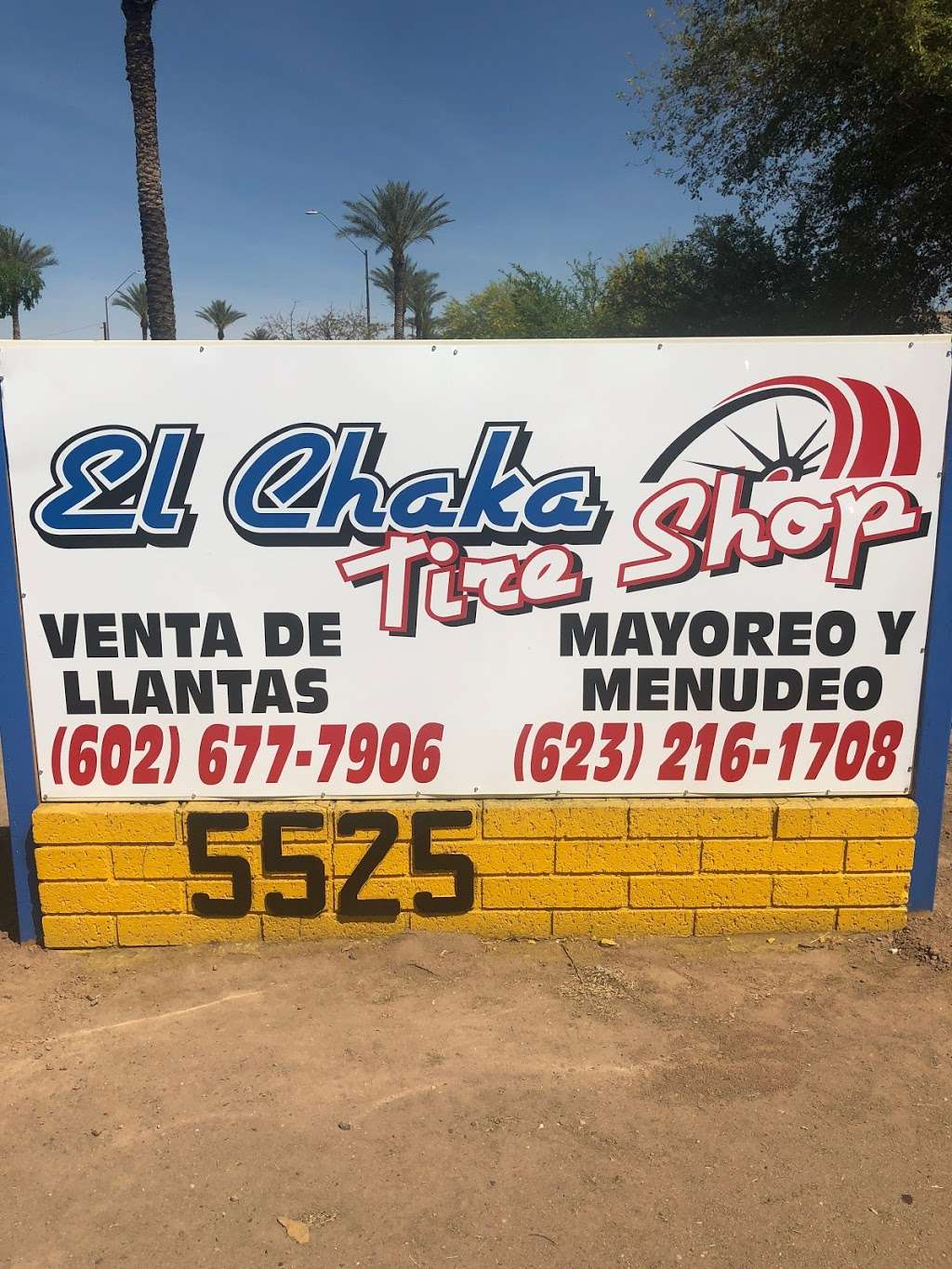 Llantera el chaka - car repair  | Photo 3 of 10 | Address: 5525 N 59th Ave, Glendale, AZ 85301, USA | Phone: (602) 825-8509