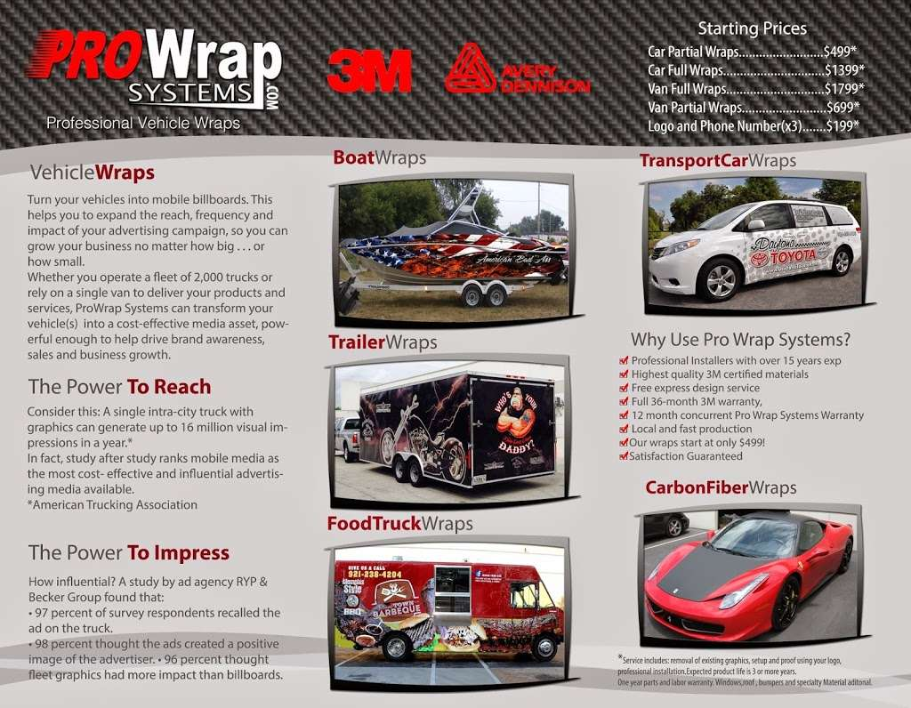 Pro Wrap Systems - store    Photo 2 of 7   Address: 4530 N Hiatus Rd, Ste 116, Sunrise, FL 33351, USA   Phone: (754) 206-4291