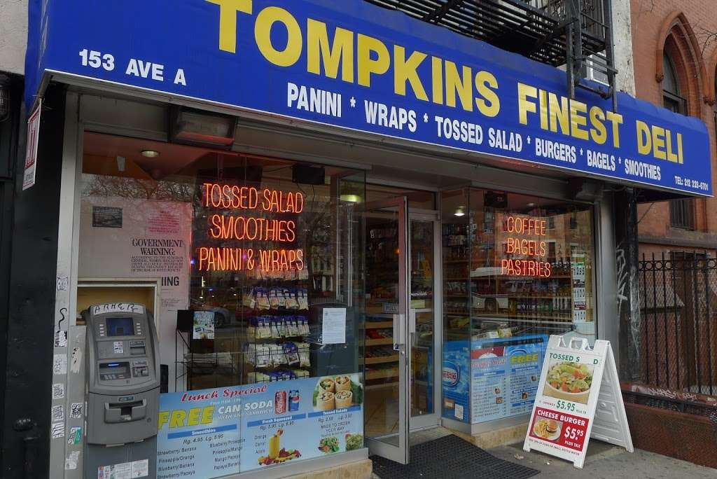 Tompkins Finest Deli - store  | Photo 3 of 10 | Address: 153 Avenue A, New York, NY 10009, USA | Phone: (212) 228-6701