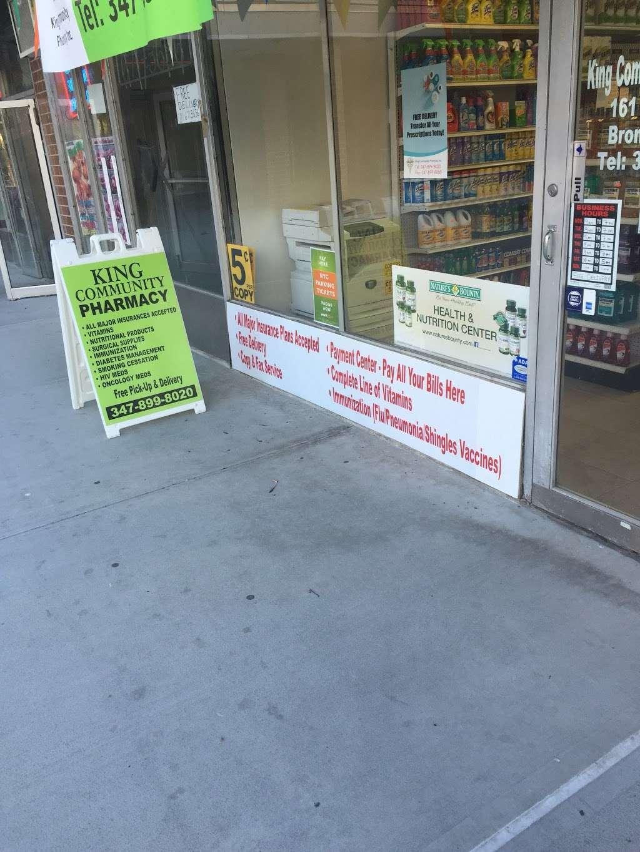 King Community Pharmacy Inc. - pharmacy  | Photo 2 of 3 | Address: 161 Dreiser Loop, Bronx, NY 10475, USA | Phone: (347) 899-8020