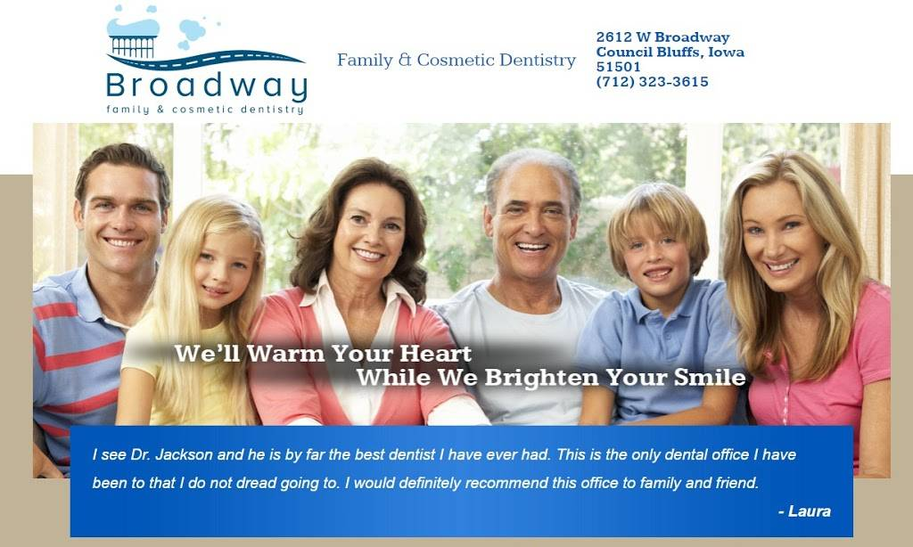 Broadway Family & Cosmetic Dentistry - dentist  | Photo 3 of 9 | Address: 2612 W Broadway, Council Bluffs, IA 51501, USA | Phone: (712) 323-3615