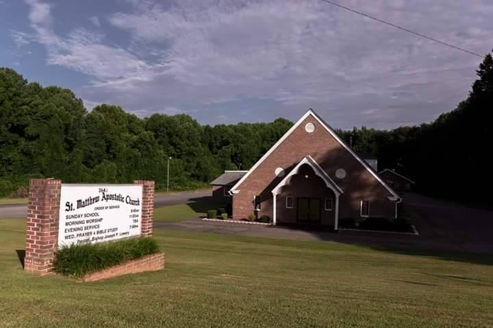 St Matthew Apostolic Church - church    Photo 1 of 2   Address: 3640 New Walkertown Rd, Winston-Salem, NC 27105, USA   Phone: (336) 724-1780