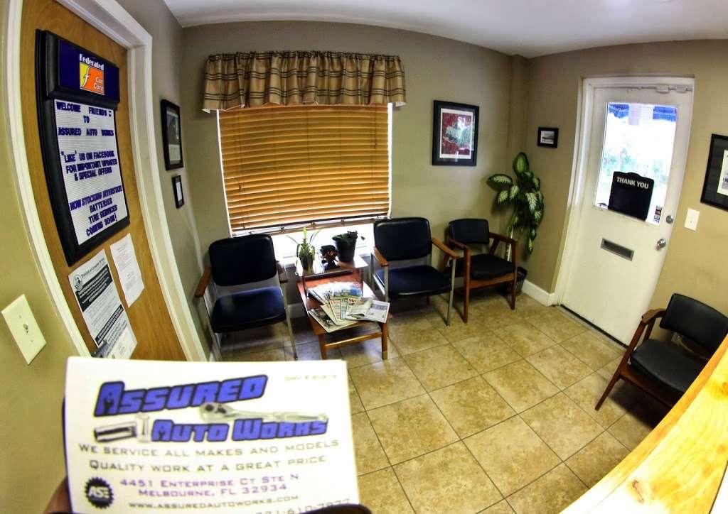 Assured Auto Works - car repair    Photo 3 of 10   Address: 4451 Enterprise Ct suite n, Melbourne, FL 32934, USA   Phone: (321) 622-0002