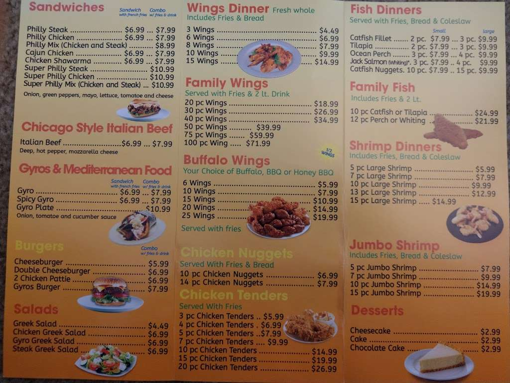 Jordans Fish Chicken & Gyros - restaurant  | Photo 6 of 6 | Address: 6165 Allisonville Rd, Indianapolis, IN 46220, USA | Phone: (317) 254-4444