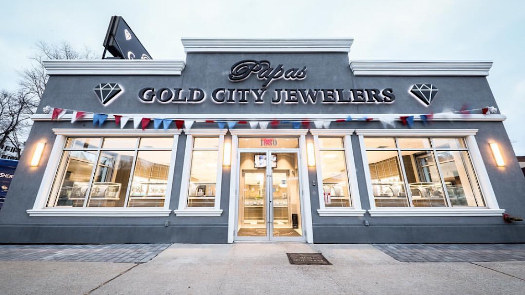 Papas Gold City Jewelers - jewelry store    Photo 1 of 10   Address: 1880 Central Park Ave, Yonkers, NY 10710, USA   Phone: (914) 337-6677