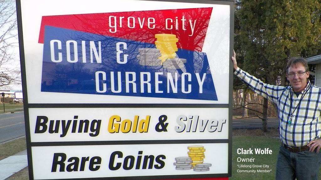 Grove City Coin & Currency - jewelry store  | Photo 1 of 9 | Address: 2655 Columbus St, Grove City, OH 43123, USA | Phone: (614) 946-3846