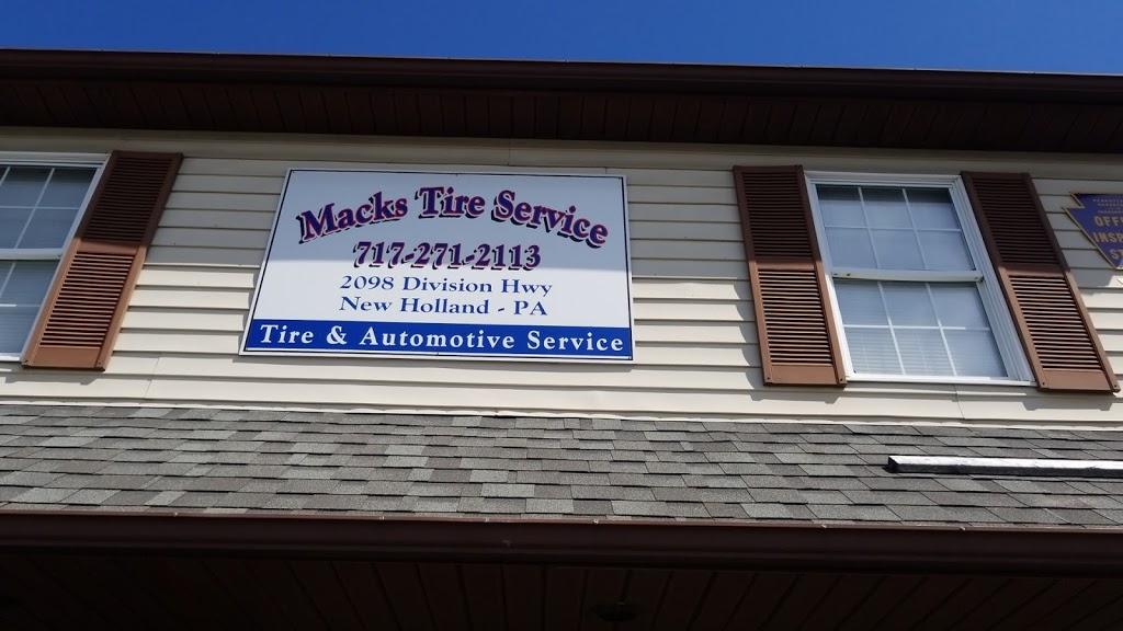 Macks Tire Service Inc. - car repair  | Photo 3 of 7 | Address: 2098 Division Hwy, New Holland, PA 17557, USA | Phone: (717) 271-2113