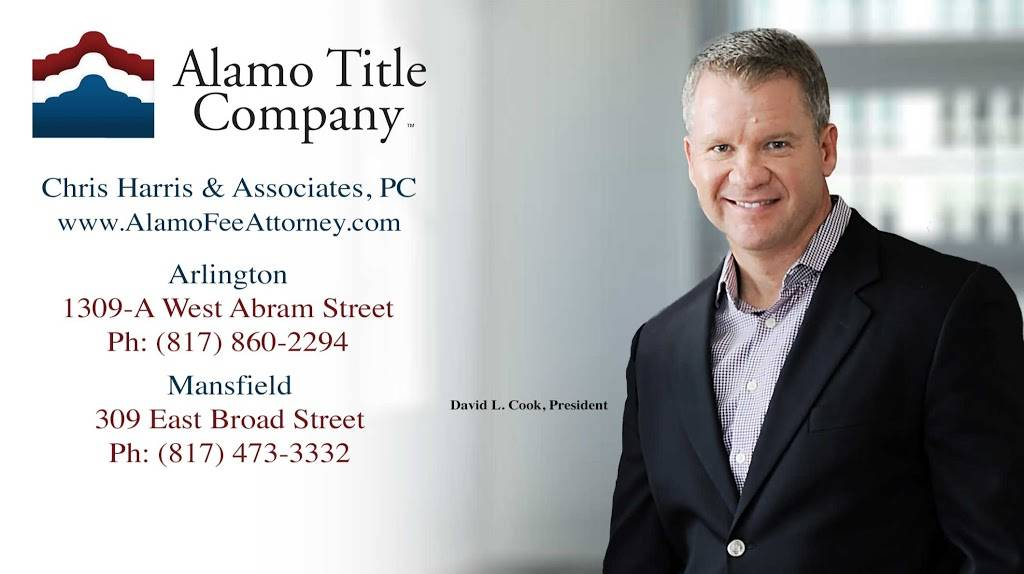 Alamo Title Company - Chris Harris & Associates, PC - insurance agency  | Photo 1 of 2 | Address: 1309-A, W Abram St, Arlington, TX 76013, USA | Phone: (817) 860-2294