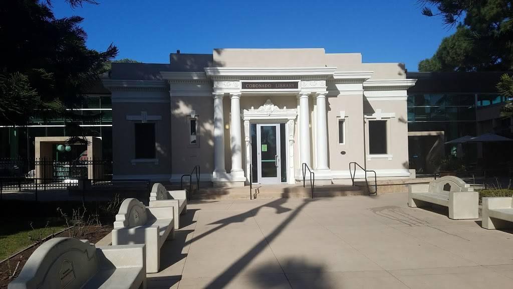 Coronado Public Library - library    Photo 1 of 8   Address: 640 Orange Ave, Coronado, CA 92118, USA   Phone: (619) 522-7390
