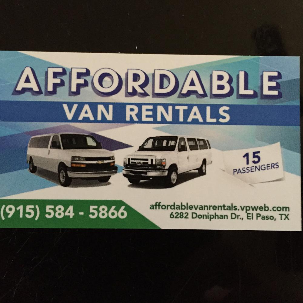 Affordable Van Rentals - car rental  | Photo 1 of 2 | Address: 6282 Doniphan Dr # 1, El Paso, TX 79932, USA | Phone: (915) 584-5866