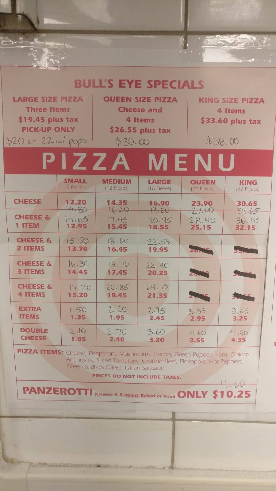 Bulls Eye Pizza - restaurant  | Photo 5 of 8 | Address: 979 Front Rd, Windsor, ON N9J 2A5, Canada | Phone: (519) 734-1221