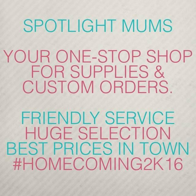 Spotlight Homecoming Mums - store  | Photo 3 of 7 | Address: 10381 Alta Vista Rd #129, Fort Worth, TX 76244, USA | Phone: (940) 389-8852