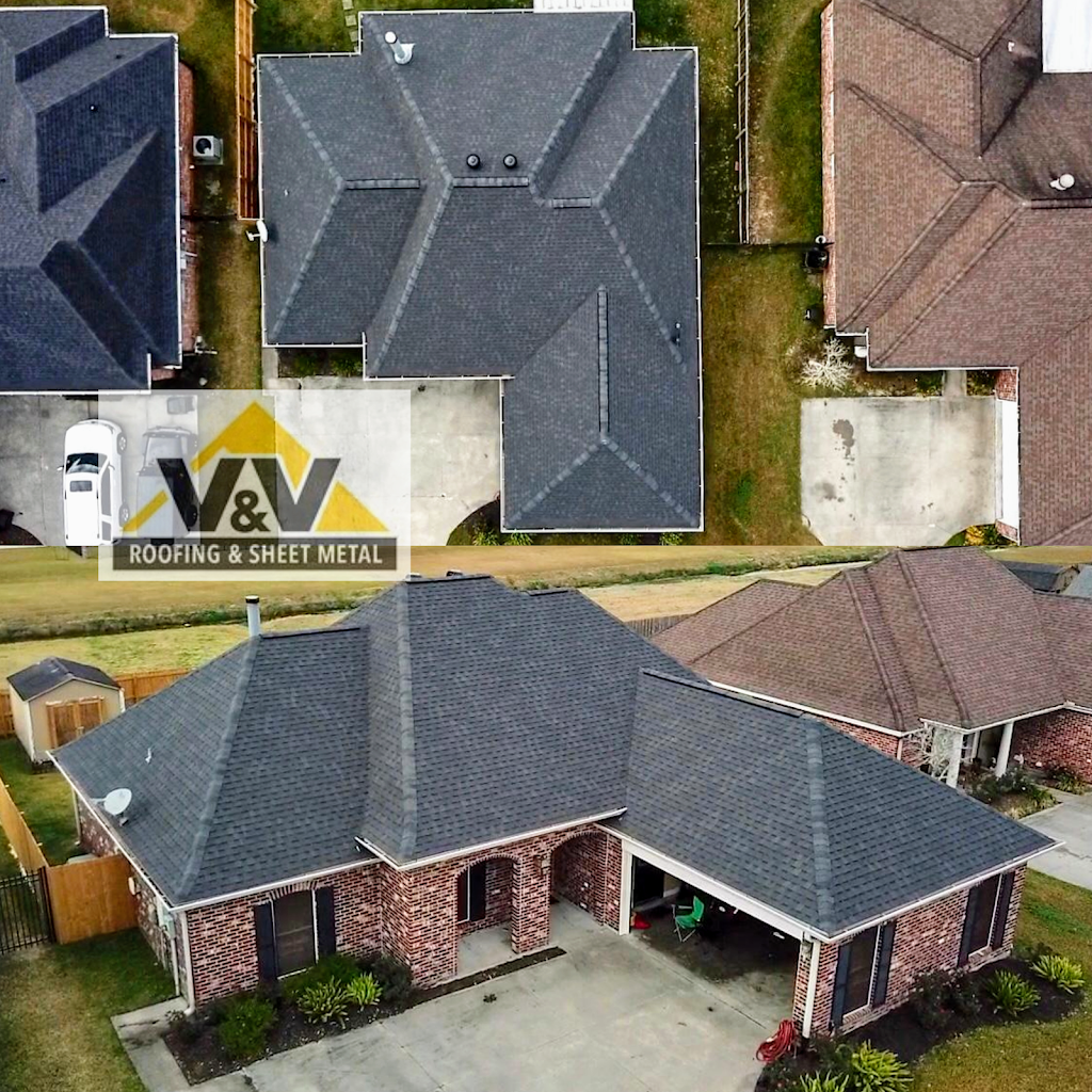 V & V Roofing and Sheet Metal, LLC - roofing contractor    Photo 1 of 8   Address: 9120 Amber Dr, Baton Rouge, LA 70809, USA   Phone: (225) 753-6736