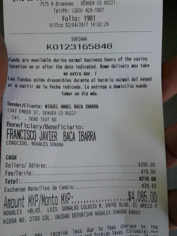 Carniceria El Tarasco - restaurant    Photo 8 of 9   Address: 7575 Broadway, Denver, CO 80221, USA   Phone: (303) 429-1007
