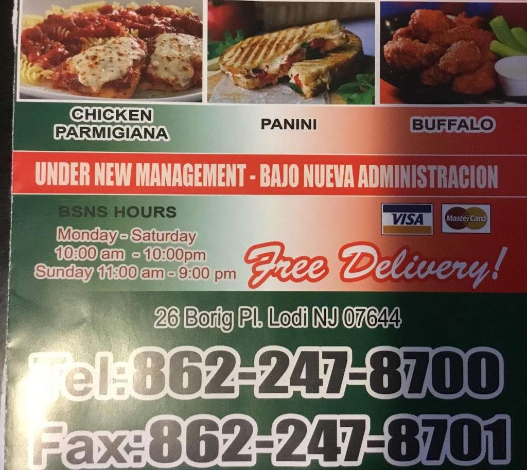 Carimos Restaurant and pizzeria - restaurant  | Photo 5 of 5 | Address: 26 Borig Pl, Lodi, NJ 07644, USA | Phone: (862) 247-8700