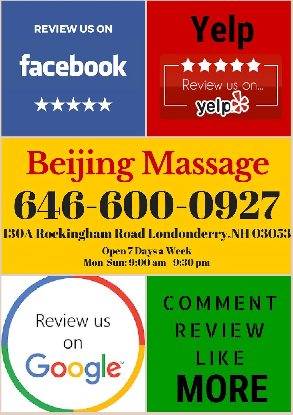 Beijing Massage & Body Work - spa  | Photo 8 of 10 | Address: 130A Rockingham Rd, Londonderry, NH 03053, USA | Phone: (646) 600-0927