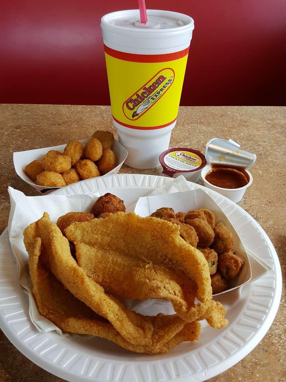 Chicken Express - restaurant    Photo 9 of 10   Address: 7300 Garth Rd, Baytown, TX 77521, USA   Phone: (281) 421-8400