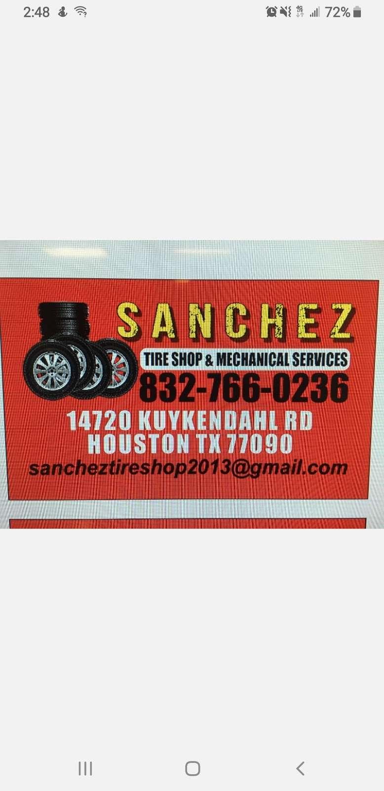 Sanchez Tire Shop - car repair  | Photo 7 of 8 | Address: 14720 Kuykendahl Rd, Houston, TX 77090, USA | Phone: (832) 766-0236