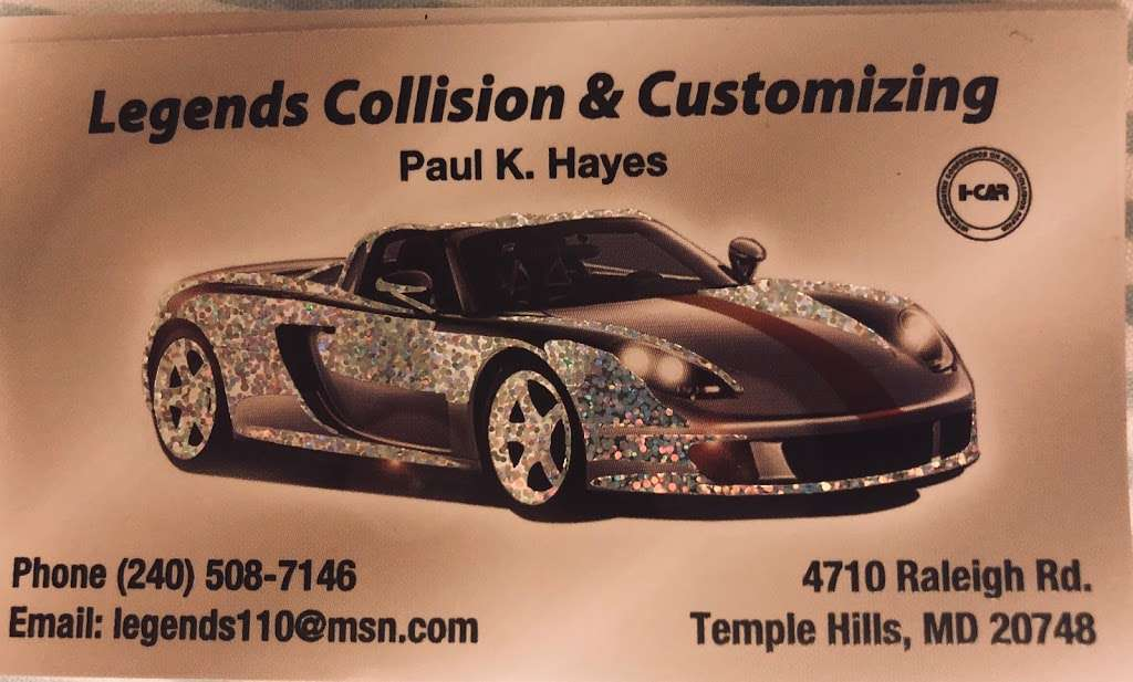 Legends Collision - car repair  | Photo 1 of 10 | Address: 4526, 4710 Raleigh Rd, Temple Hills, MD 20748, USA | Phone: (240) 508-7146