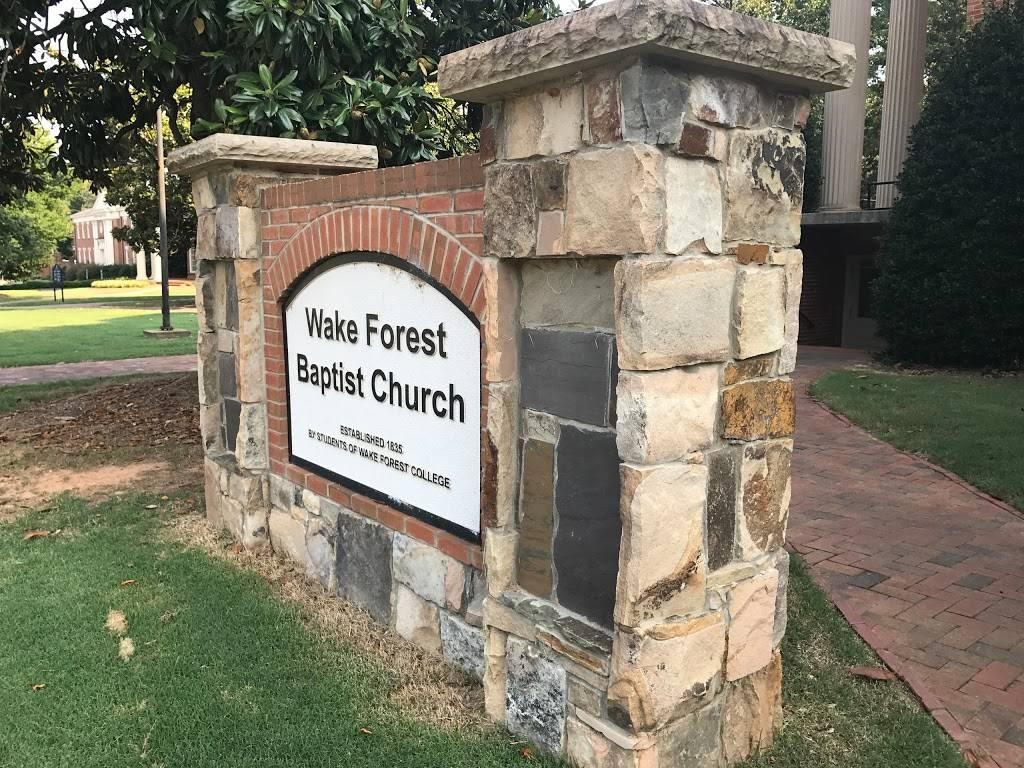 Wake Forest Baptist Church - church  | Photo 3 of 7 | Address: 107 South Ave, Wake Forest, NC 27587, USA | Phone: (919) 556-5141
