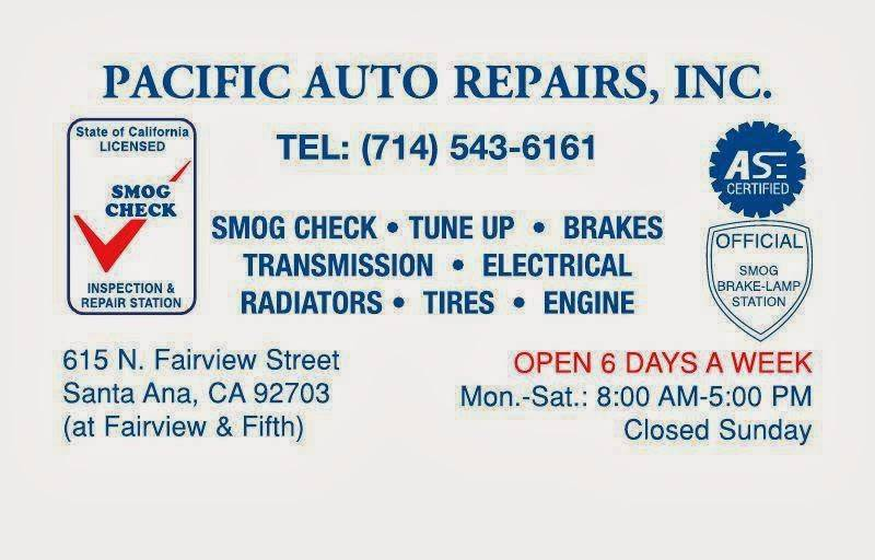 Pacific Auto Repair - car repair  | Photo 2 of 3 | Address: 615 N Fairview St, Santa Ana, CA 92703, USA | Phone: (714) 543-6161