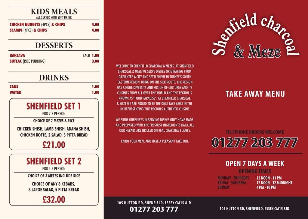 Shenfield Charcoal & Meze - restaurant  | Photo 6 of 7 | Address: 105 Hutton Rd, Brentwood CM15 8JD, UK | Phone: 01277 203777