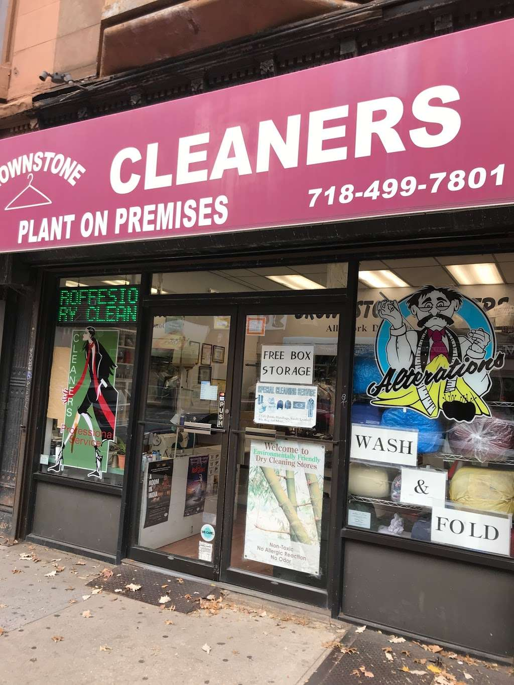Brown Stone Cleaners - laundry  | Photo 2 of 3 | Address: 318 7th Ave, Brooklyn, NY 11215, USA | Phone: (718) 499-7801
