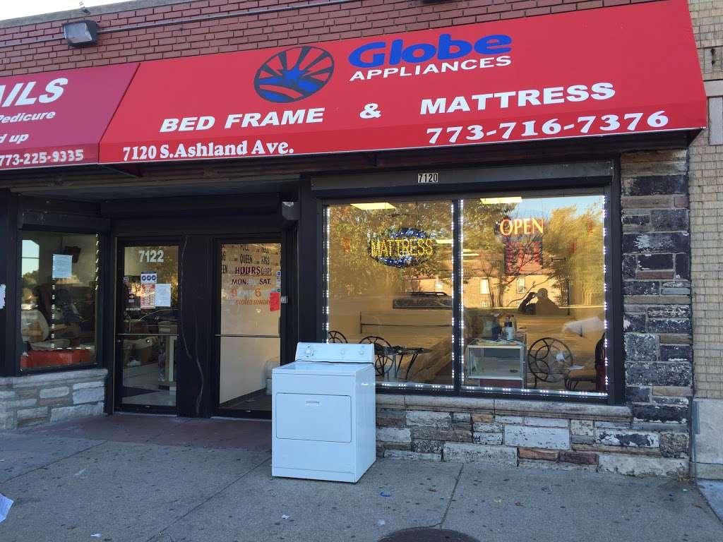 Globe Appliance & Mattress - furniture store    Photo 2 of 10   Address: 8559 S Ashland Ave, Chicago, IL 60620, USA   Phone: (773) 716-7376