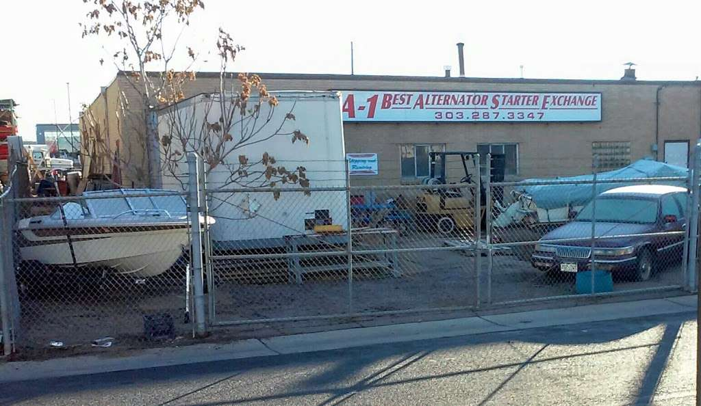 A-1 Best Alternator Starter Exchange - car repair    Photo 1 of 1   Address: 4980 Niagara St, Commerce City, CO 80022, USA   Phone: (303) 287-3347