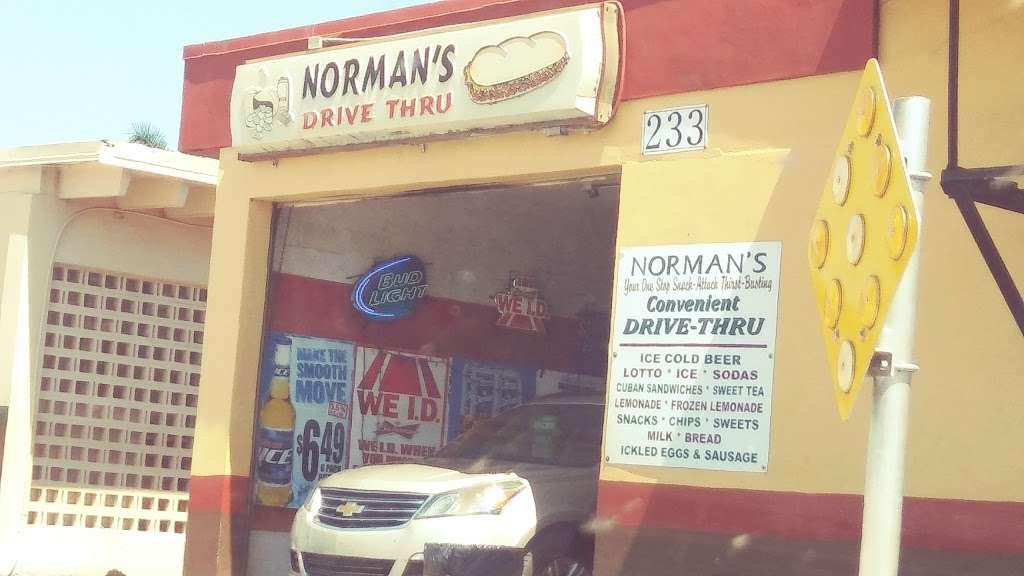 Normans Drive Thru - meal takeaway  | Photo 1 of 2 | Address: 233 Dr M.L.K. Jr Blvd W B, Belle Glade, FL 33430, USA | Phone: (561) 996-2494