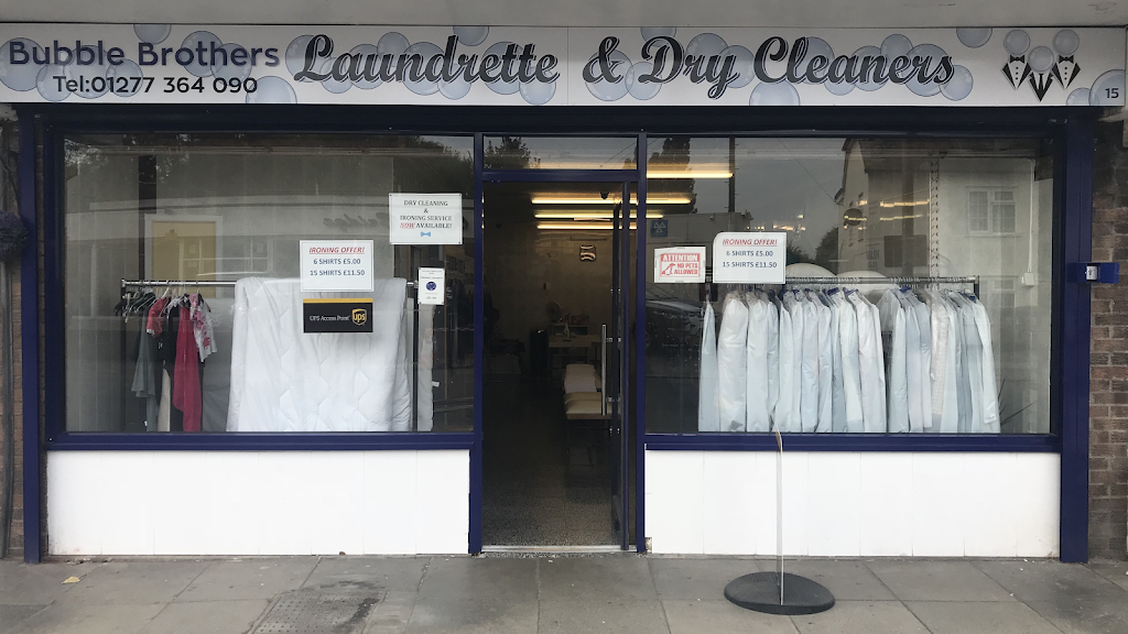 Bubble Brothers Laundrette & Dry Cleaners - laundry  | Photo 1 of 10 | Address: 15 High St, Chipping Ongar, Ongar CM5 9DS, UK | Phone: 01277 364090