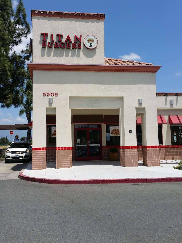 Titan Burgers Chino - restaurant  | Photo 3 of 10 | Address: 5509 Philadelphia St, Chino, CA 91710, USA | Phone: (909) 627-4004
