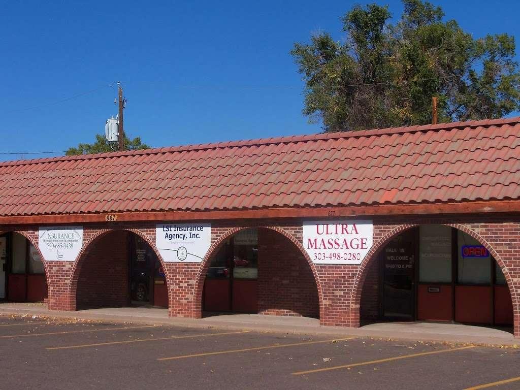 Ultra Massage - health    Photo 1 of 3   Address: 677 E Bridge St, Brighton, CO 80601, USA   Phone: (303) 498-0280