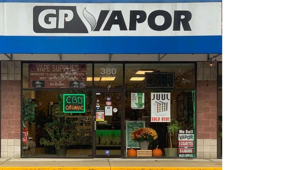 GP Vapor Vape Supplies, Smoking Accessories & CBD - store  | Photo 1 of 8 | Address: 380 Daniel Webster Hwy, Merrimack, NH 03054, USA | Phone: (603) 420-8005