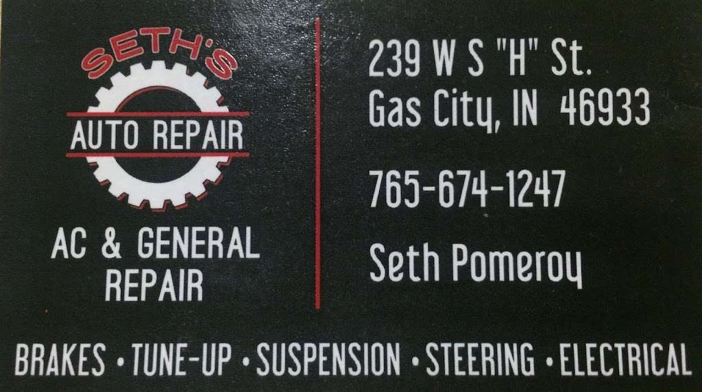 Nash Auto Repair - car repair    Photo 2 of 2   Address: 239 W South H St, Gas City, IN 46933, USA   Phone: (765) 674-1247